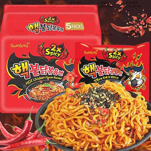samyang 2x spicy noodles 三洋火鸡面双倍辣五连包