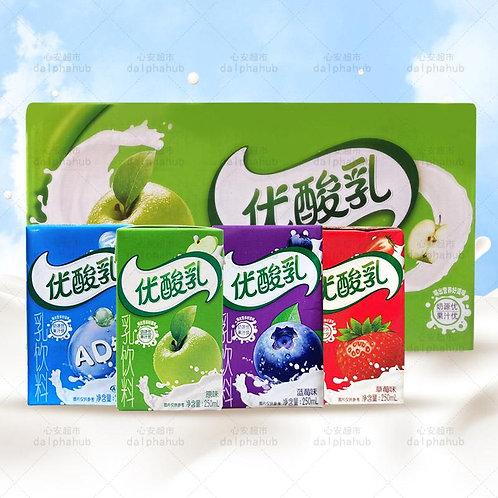 Yili yogurt multi flavor 250ml 伊利优酸乳AD钙/草莓/蓝莓/原味