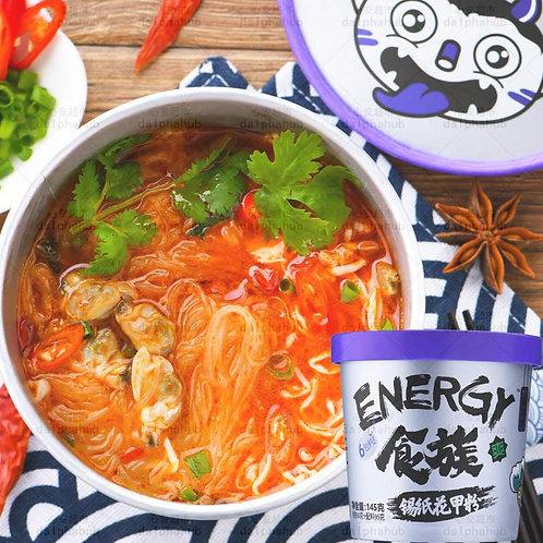 Energy Tinfoil sea food noodles 食族人锡纸花甲粉桶装145g