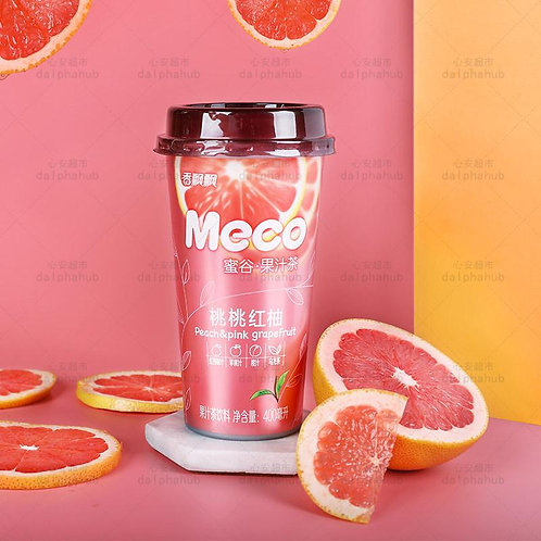 Fragrant honey grain peach red pomelo 400ml 香飘飘蜜谷桃桃红柚400ml