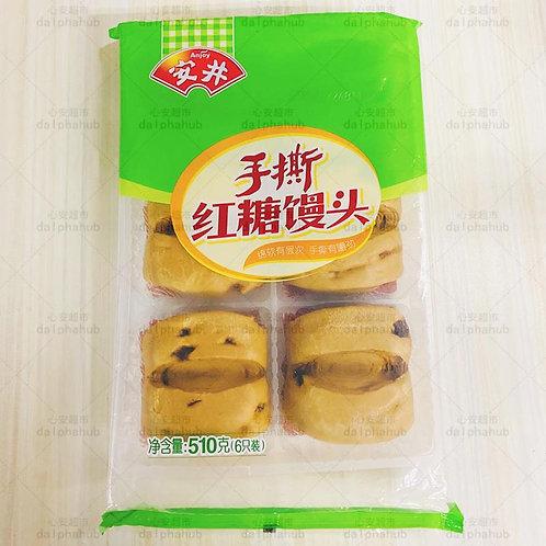 Yasui Shredded Brown Sugar Steamed Bun 510g 安井手撕红糖馒头510g