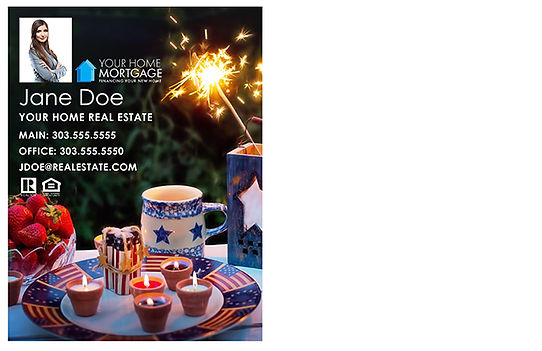 Happy 4th of July style 4 Postcard (Back)