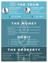 The Team - The Money - The Property Infographic Flyer