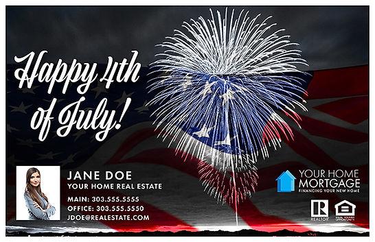 Happy 4th of July design 2 Postcard