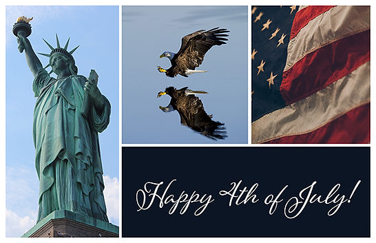 Happy 4th of July style 4 Postcard