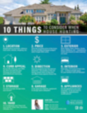 Things to Consider While House Hunting V2 Infographic