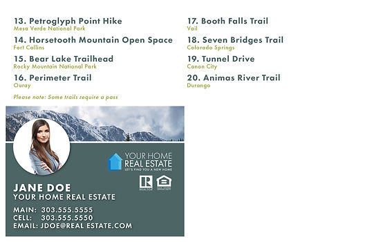 Hiking Trails Template Back