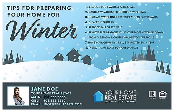 Preparing for Winter 1 Postcard