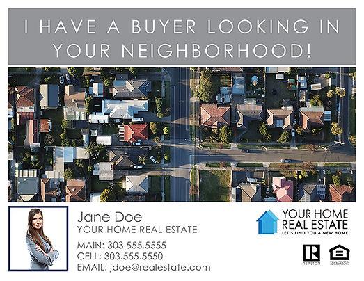 Buyer In Your Neighborhood Postcard