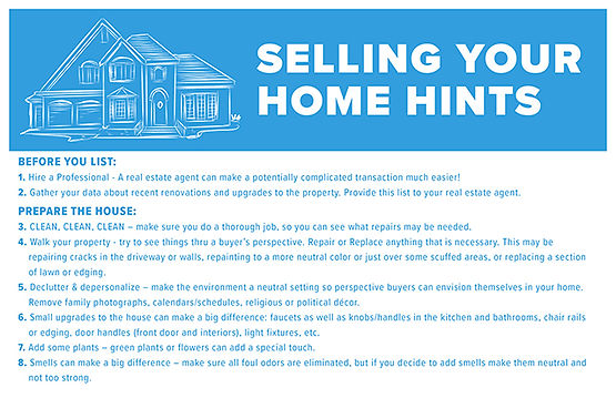 Selling Your Home Hints Template
