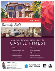 Tessellate Garnet Template Flyer & Brochure