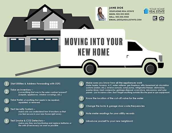 Moving into your new home v2 Infographic