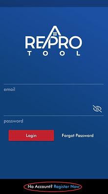 Register ReProTool App