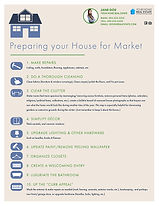 Preparing your House for Market Infographic Flyer