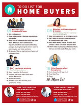 To Do List For Home Buyers Infographic Flyer