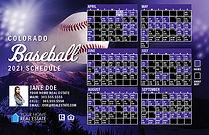 2021 Colorado Baseball Schedule Postcards