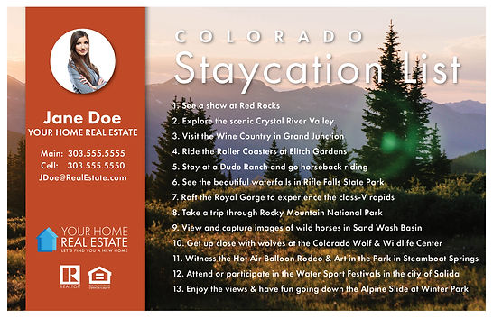 Staycation List Template