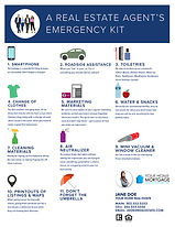 Real Estate Agent Emergency Kit Infographic Flyer