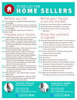 To Do List For Home Sellers Infographic Flyer