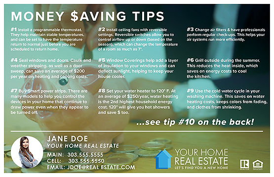 Money Saving Tips Template