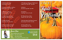 Fall Festivals 2 Postcard