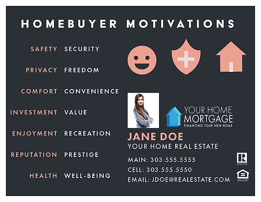 Homebuyer Motivations Template