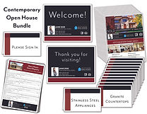 Contemporary Open House Package