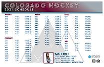 2021 Colorado Hockey Schedule Template