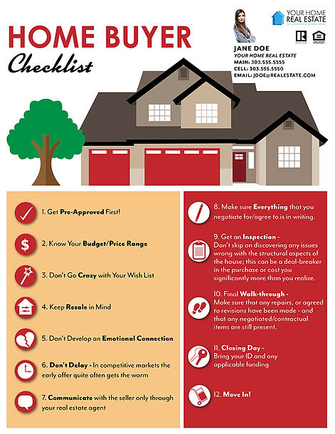 Home Buyer Checklist Infographic