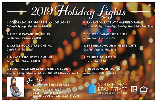 Holiday Lights Template