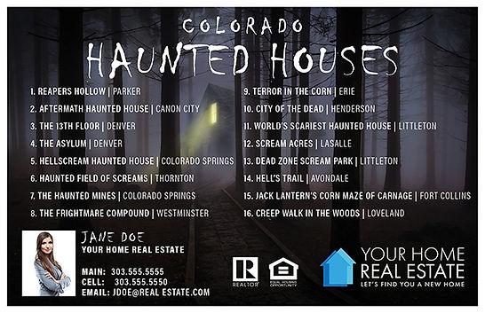 Haunted Houses Postcard