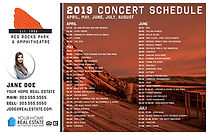 Red Rocks Schedule Template