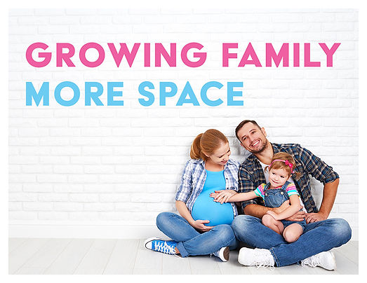 Growing Family More Space Postcard