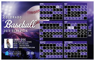 Colorado Baseball Schedule Template 2