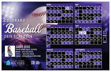 Colorado Baseball Schedule Template 2