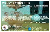 Money Saving Tips Postcard