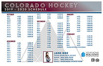Colorado Hockey Schedule Template