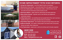 Home Improvements with High Returns Postcard