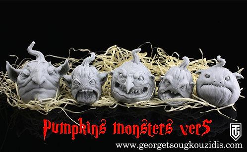 Pumpkins monster heads ver5
