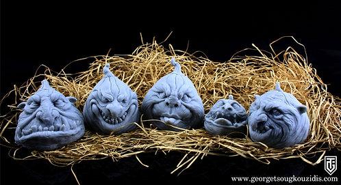 Pumpkins monster heads ver2