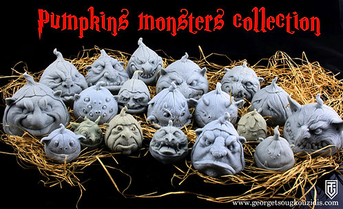 Pumpkins monsters collection