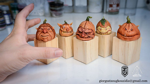 Pumpkins monster heads ver1