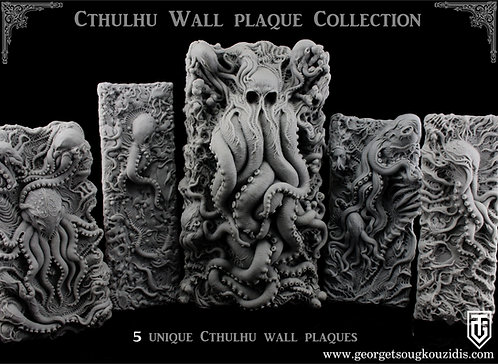 Cthulhu Wall Plaque Collection 5 Unique sculptures.