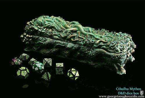 Cthulhu Mythos D&D dice box Bone & Bronze ver