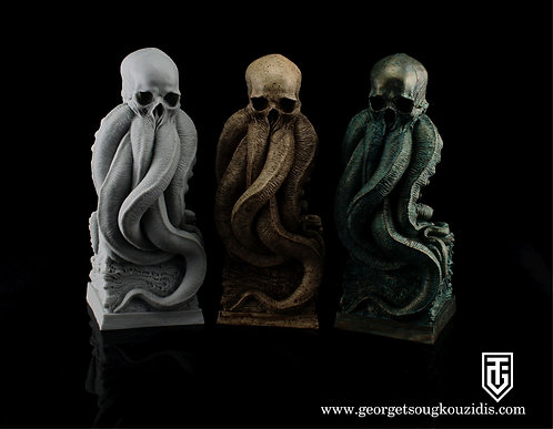 Cthulhu scull bust