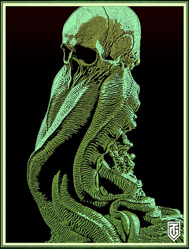 Cthulhu green Small Poster ver1