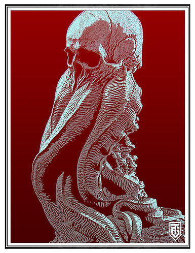 Cthulhu blood Small Poster