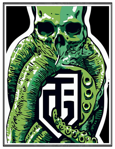 Cthulhu green Small Poster ver2