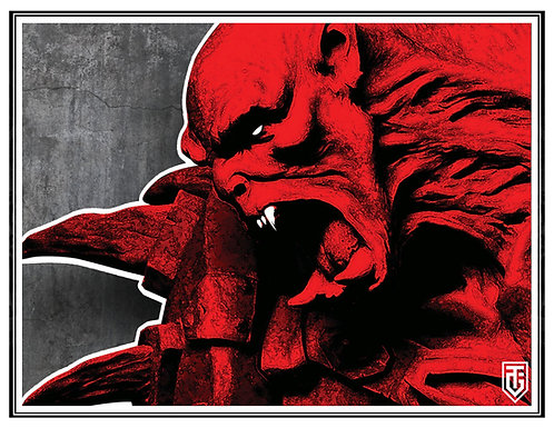 Orc Berserker Small Poster