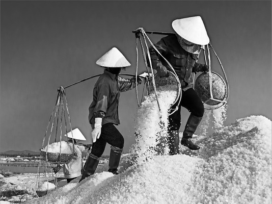 Draining the Salt.